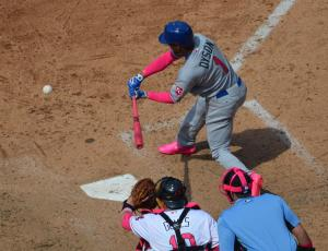 Pink at plate